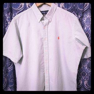 Ralph Lauren Rippled Textured Casual Button Up